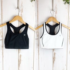 Champion Reversible Sports Bra Black & White EUC